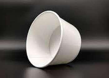 Pote de papel biodegradável compostável